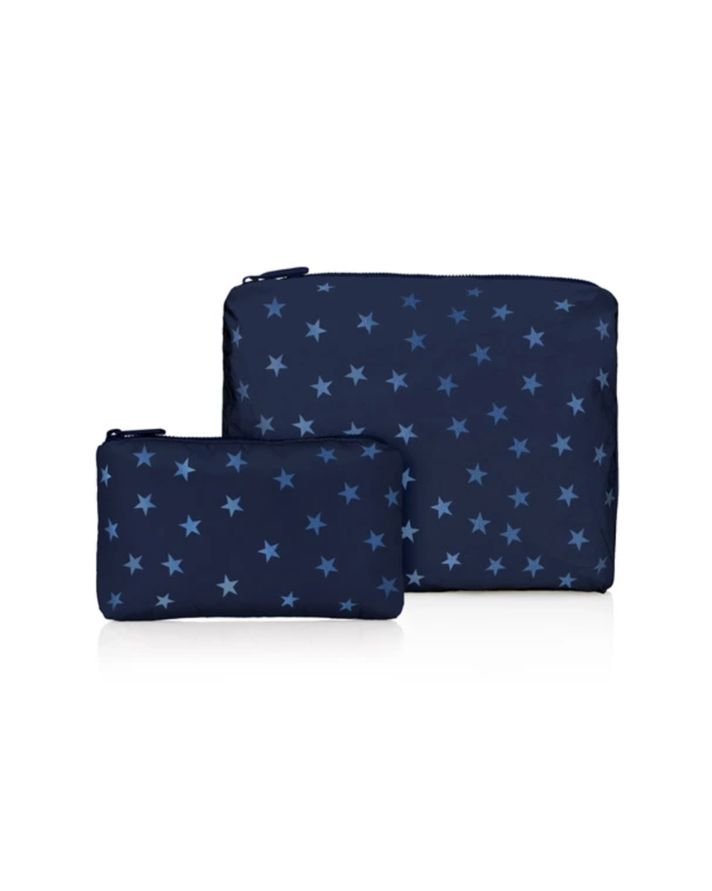 Hi Love Travel Navy Shimmer Myriad Stars - 2 Set