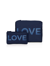 Hi Love Travel Navy Shimmer LOVE - 2 Set