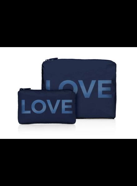 Hi Love Travel Navy Shimmer LOVE - 2 Set