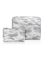 Hi Love Travel Metallic Silver Camo Pattern - 2 Set