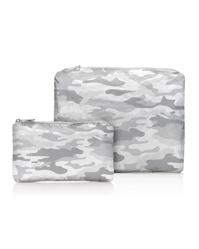 Hi Love Travel Metallic Silver Camo Pattern - 2 Set