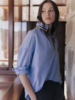 A Shirt Thing Penelope Flannel Chambray Blue F20