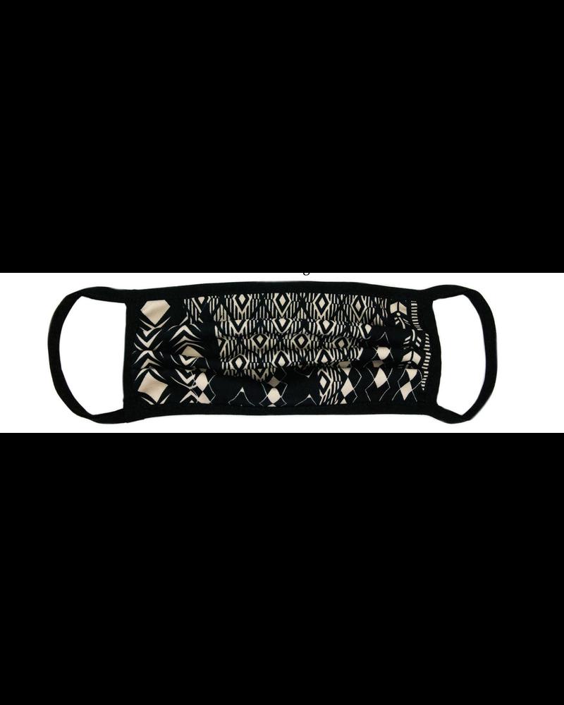 Marlyn Schiff Black Geo Adult Mask