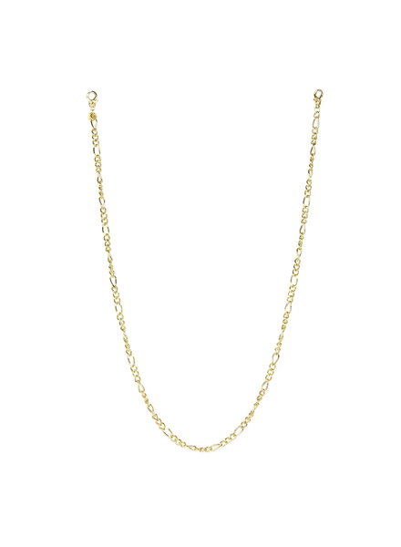 "Marlyn Schiff 26"" figaro link mask chain 1650N Gold"