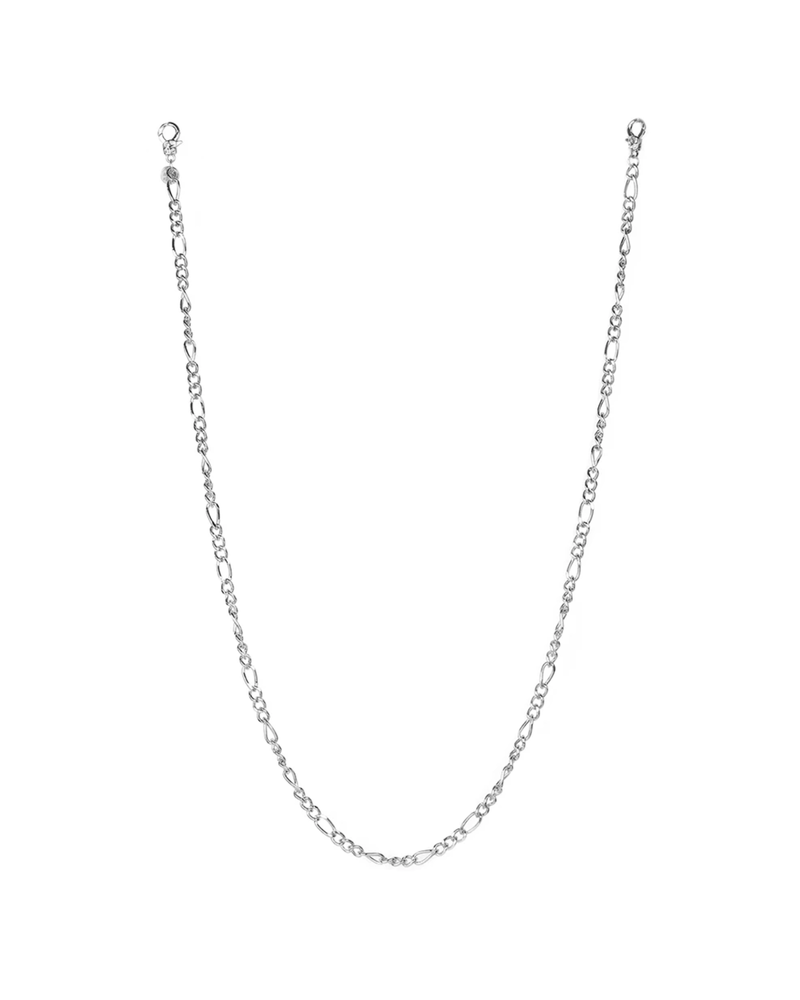 "Marlyn Schiff 26"" figaro link mask chain 1650N Silver"