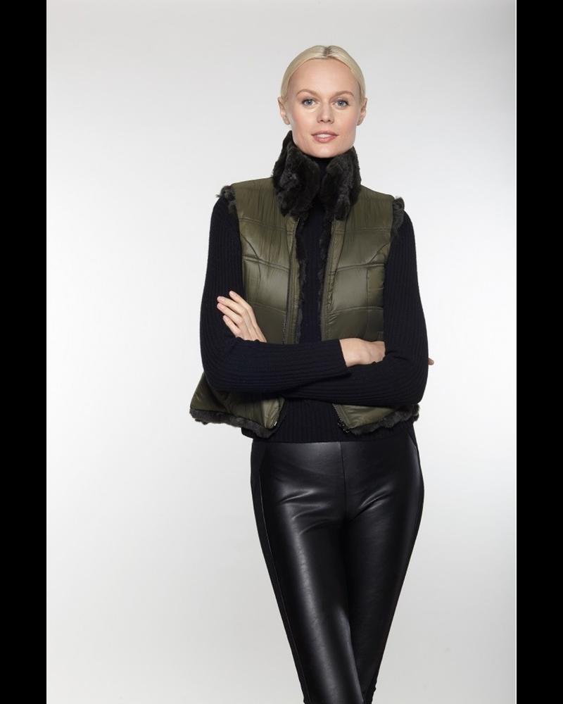 Linda Richards Rex Zip Reverse Vest Olive FK-260 F20