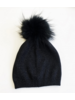 Linda Richards HA-81 Metallic Knit Hat Black