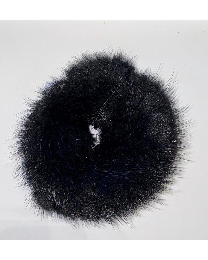 Linda Richards HT-04 Mink Scrunchie Black