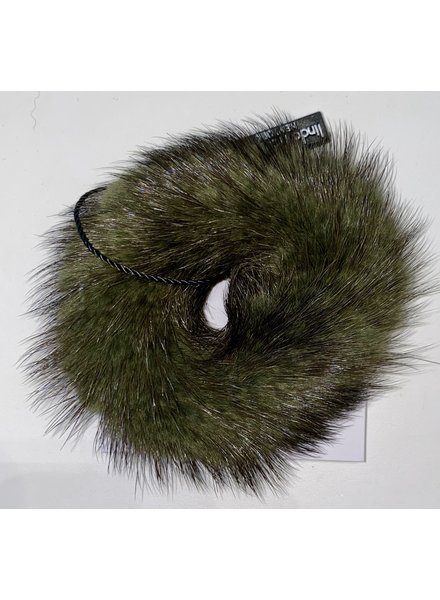 Linda Richards HT-04 Mink Scrunchie Army Green