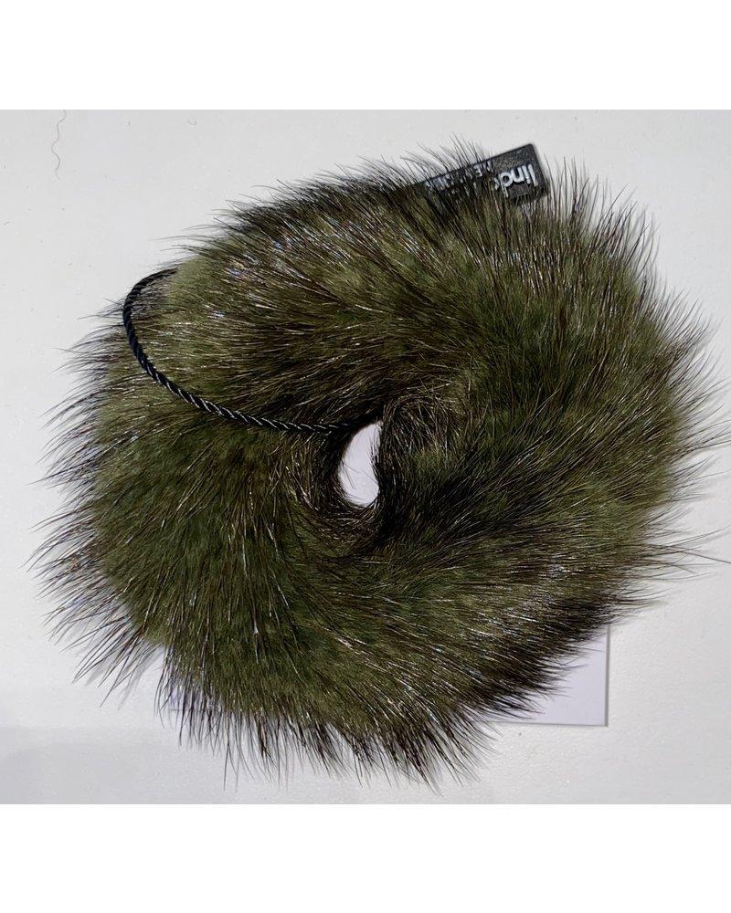 Linda Richards HT-04 Mink Scrunchie Army Green
