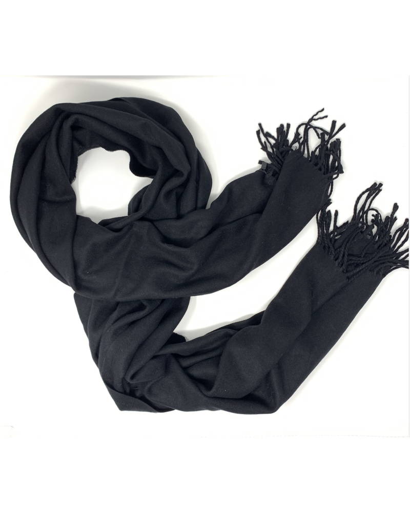 Glamourpuss NYC Scarf No Embellishments  Black