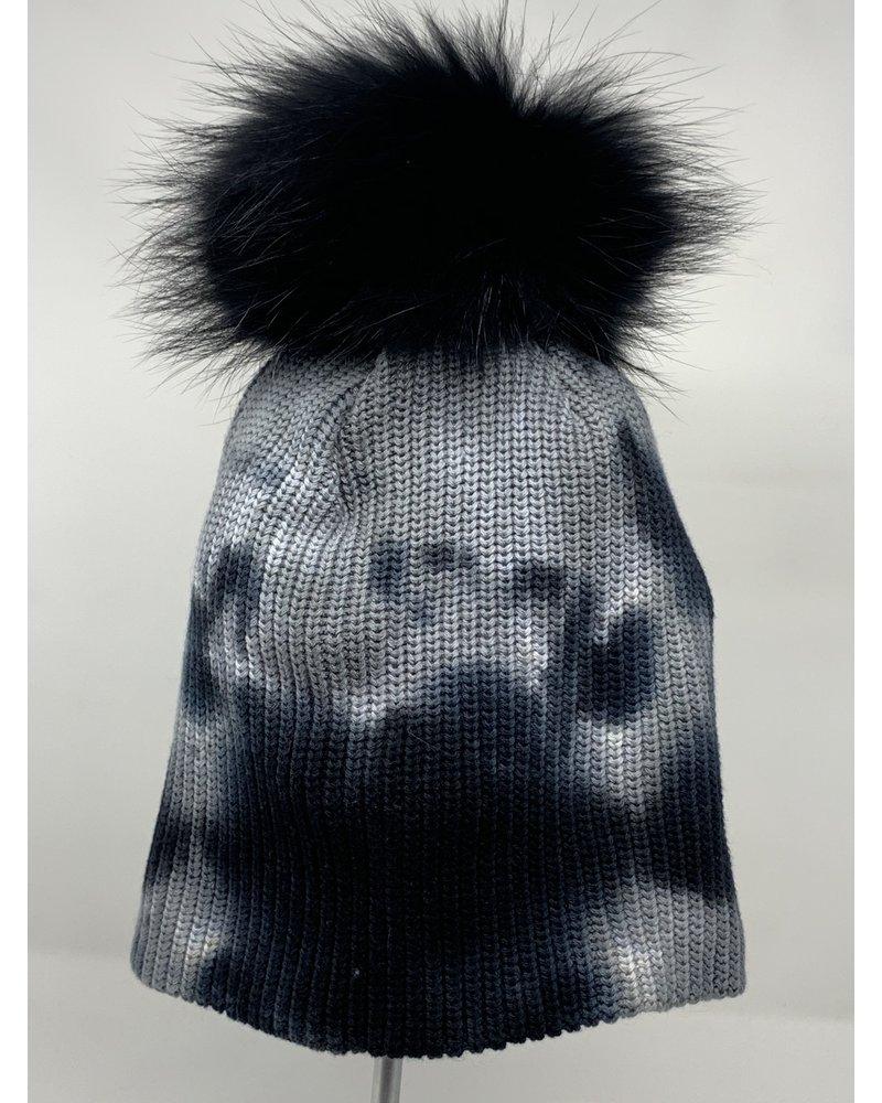 Linda Richards HATD-01 Tie Dye Hat Black/White