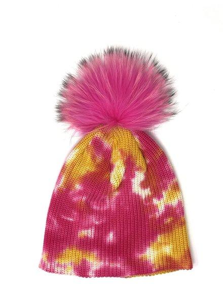 Linda Richards HATD-01 Tie Dye Hat Fuchsia