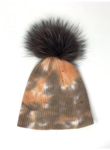 Linda Richards HATD-01 Tie Dye Hat Tan