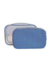 TRVL Clear Duo Gingham Royal