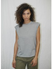 The Range Strata Slub Jersey Shoulder Pad Muscle Tee Mist F20