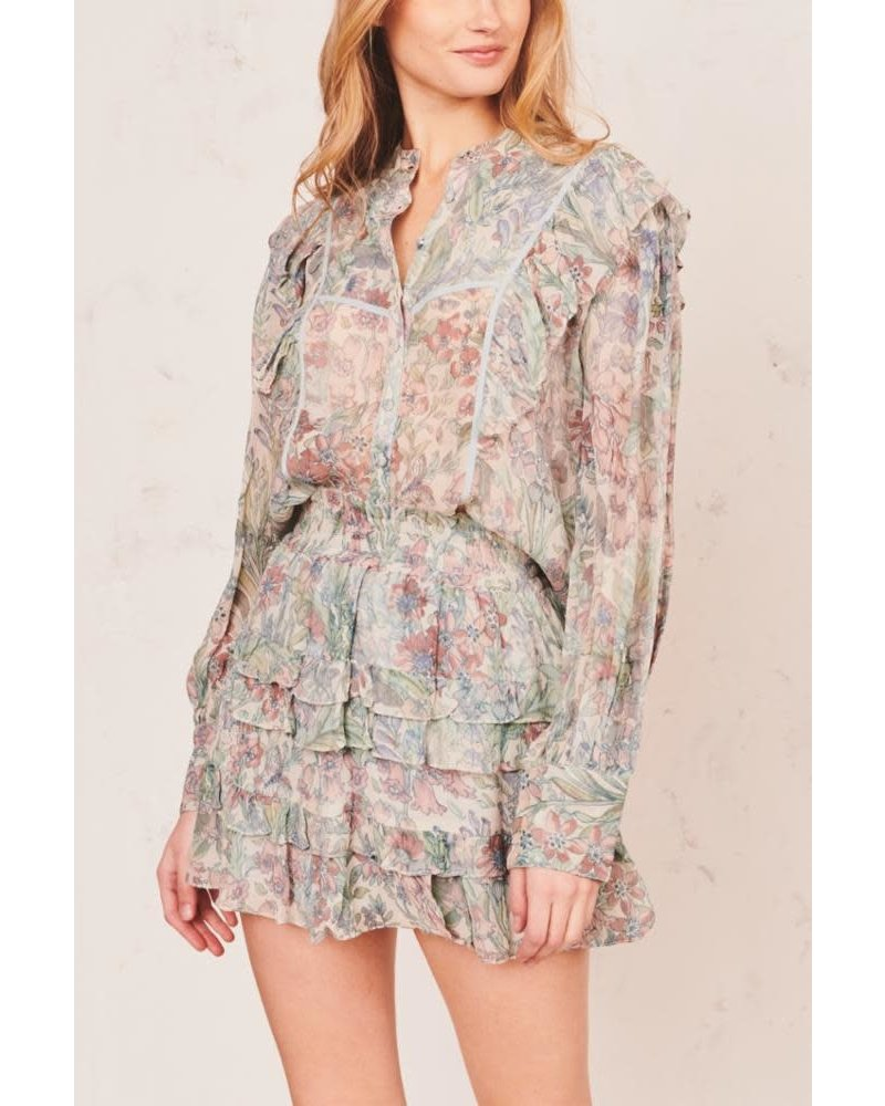 Love Shack Fancy Benicia Skirt Mystical Foliage F20