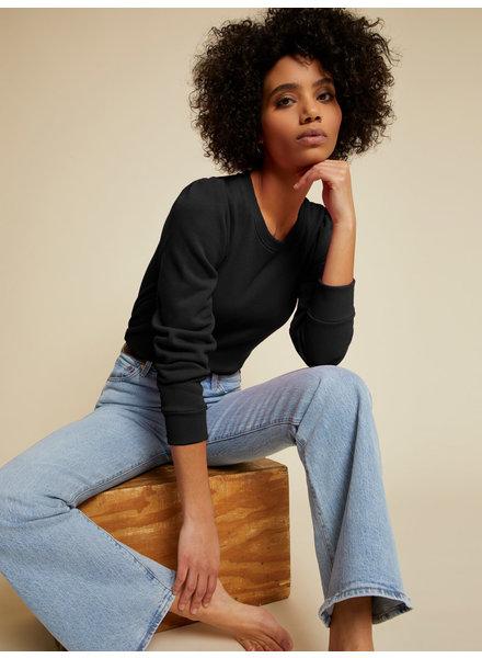 Nation Zarina Princess Sleeve Sweatshirt Jet Black F20