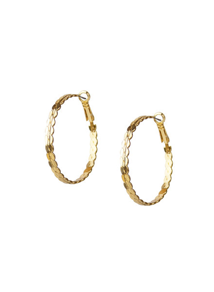Marlyn Schiff 1631E Gold S Link Hoop