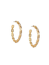 Marlyn Schiff 1629E Gold Large Chain Link Hoop