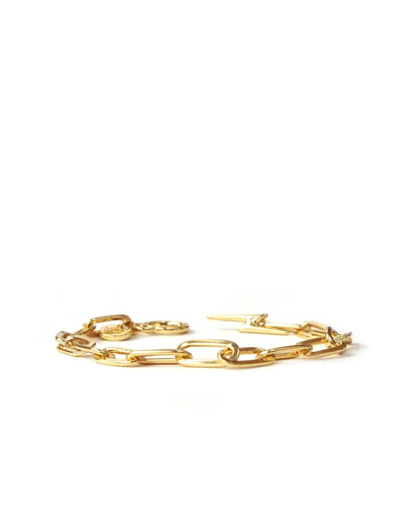 Marlyn Schiff 1377B Gold Bolt Toggle Link Bracelet