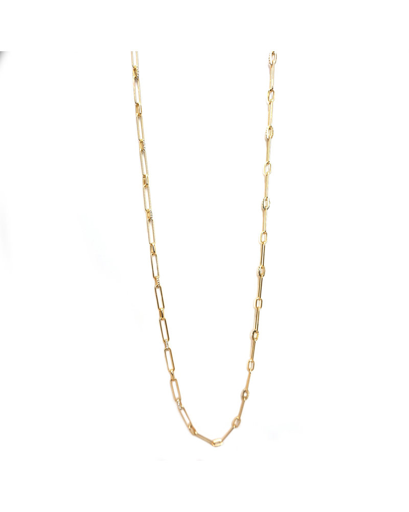 Marlyn Schiff 1356N Chain Pave Link Toggle Necklace