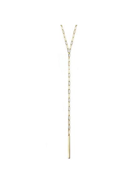 Marlyn Schiff 1405N Gold Metal Link & Bar Y Necklace