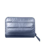 Hi Love Travel Puffer Wallet- Shimmer Navy