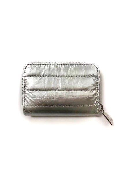 Hi Love Travel Puffer Wallet-  Metallic Silver