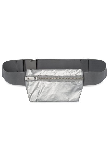 Hi Love Travel Invisible Pack - Metallic Silver with Gray Strap