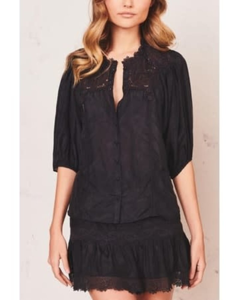Love Shack Fancy Maiden Top Black F20