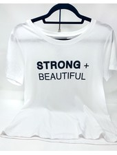Strong + Beautiful Strong + Beautiful Tee White