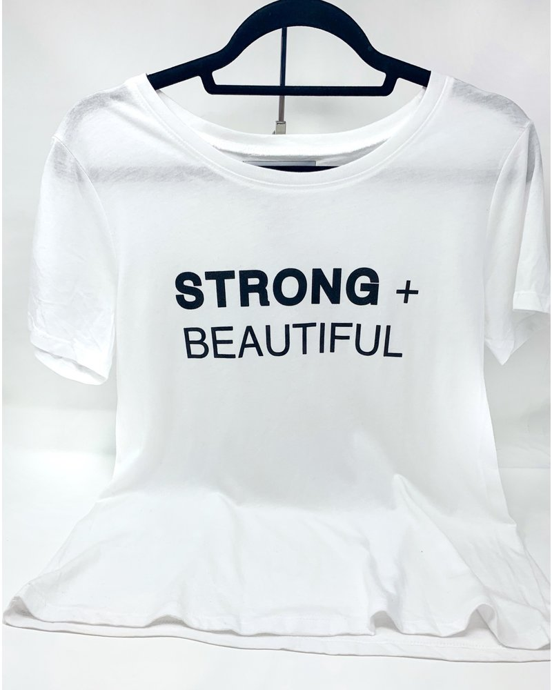 Strong + Beautiful Strong + Beautiful Tee White