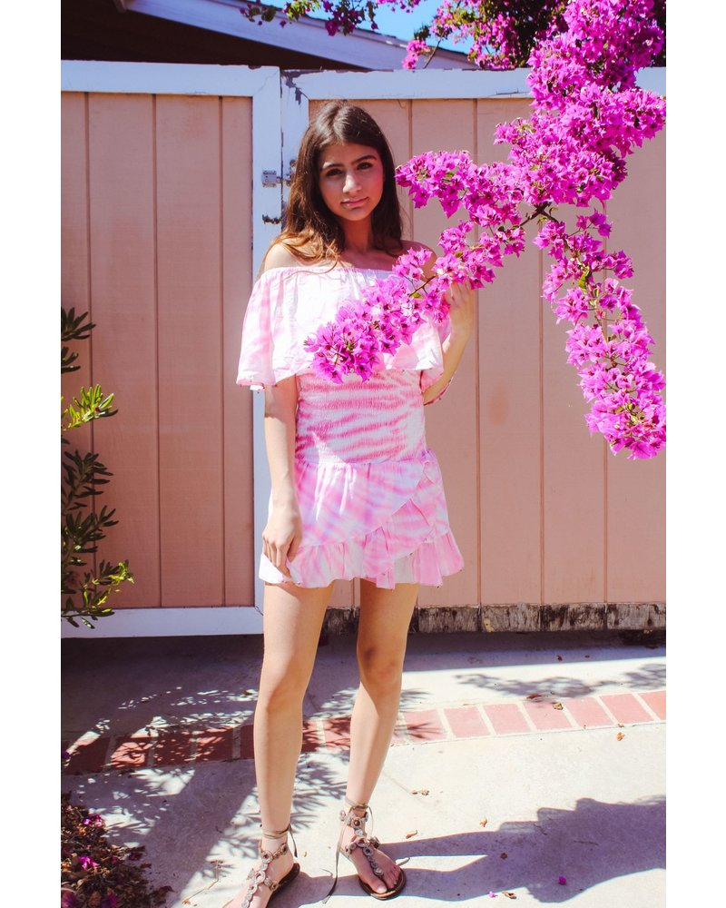 Bell Emery Dress R21-12 Pink Tie Dye R21