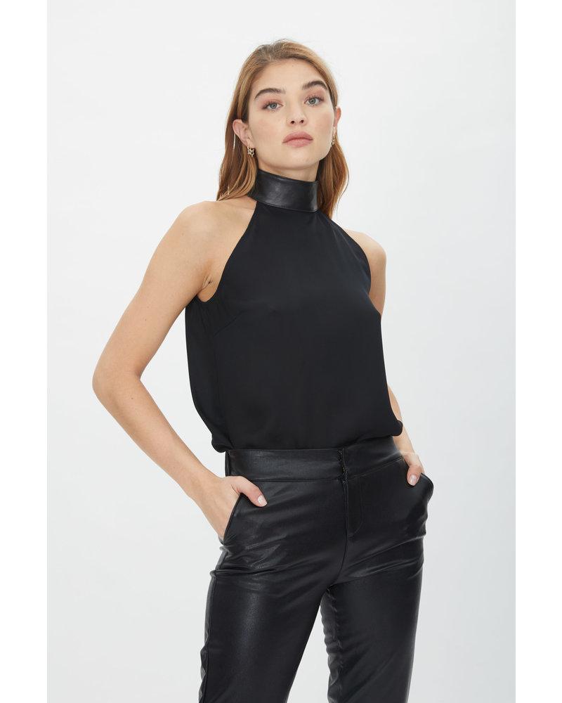 Generation Love Lynette Leather Combo Halter Black F20