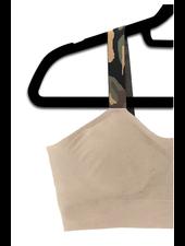 Strap-Its Nude Bra with Attachd Green Camo Strap