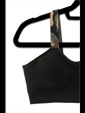 Strap-Its Black Bra with Attachd Green Camo Strap