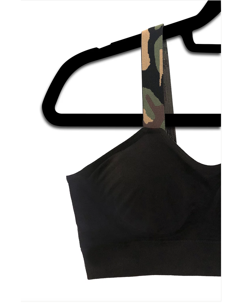 Strap-Its Black Bra with Attachd Green Camo Strap