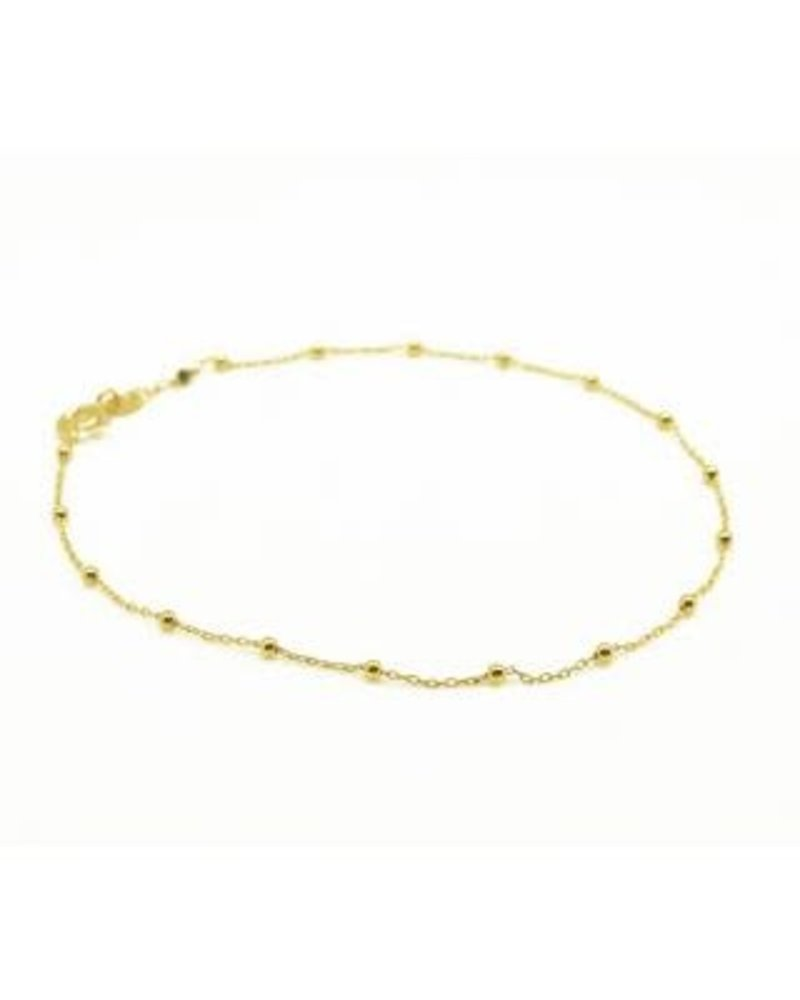 By Johanne ART5488 Gold plated dual chain anklet