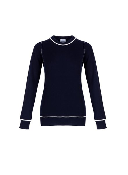 Madeleine Thompson The Sure Thing Navy with Cream Piping F20