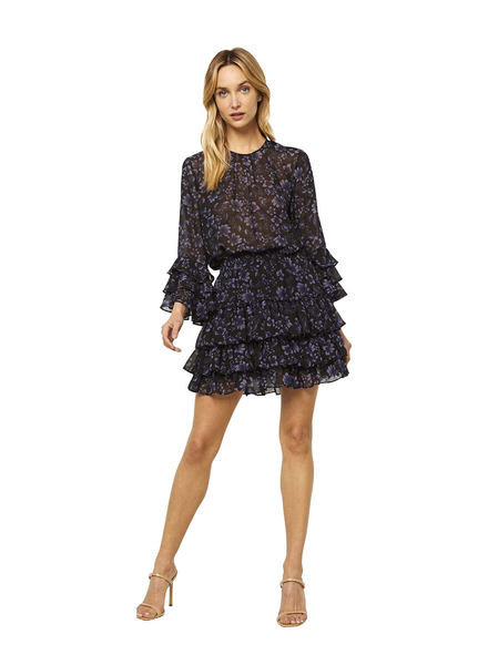 Misa Bernita Dress Midnight Floral F20