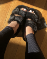 Linda Richards Mink Full Skin Slides Black MKS-01 F20