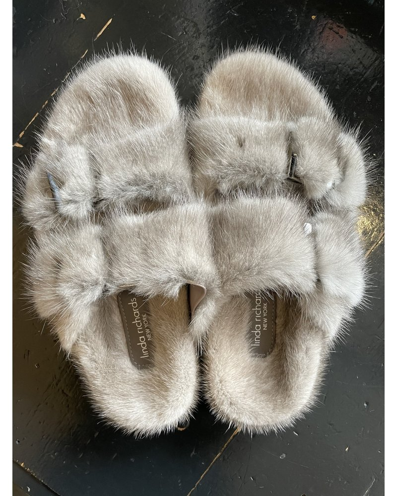 Linda Richards Mink Full Skin Slides Grey MKS-01 F20