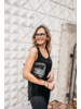 Hi Love Travel Puffer Purse Black Shimmer