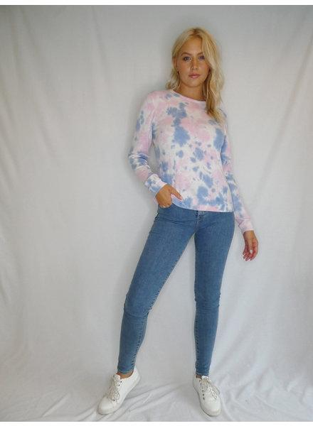 Brodie Tiana Tie Dye Sweatshirt Lazer White, Light Pink and Light Blue H20