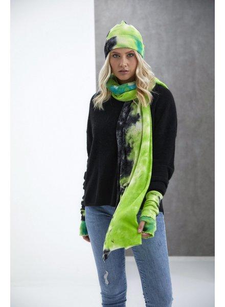 Brodie Dillan Tie Dye Hat Organic White, Green and Black H20