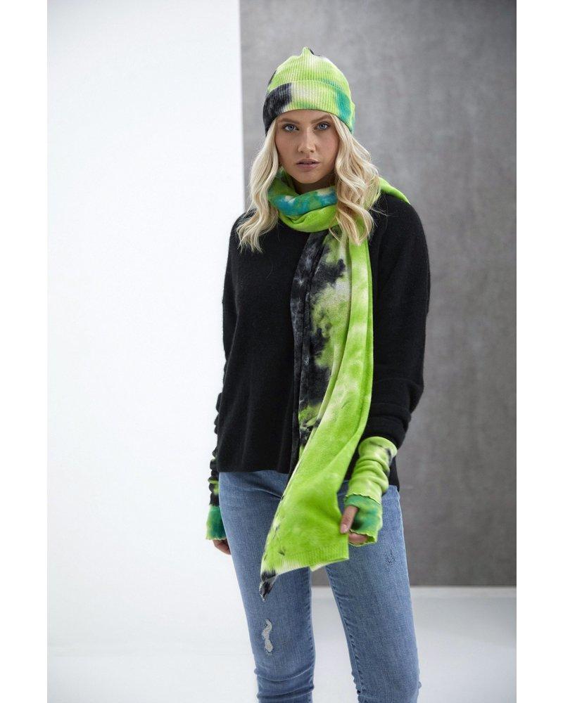Brodie Dillan Tie Dye Kitten Mitten Organic White, Green and Black H20