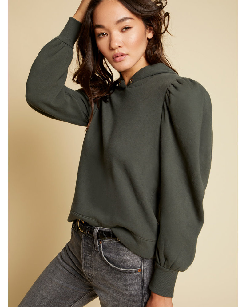 Nation Davina Cropped Hoodie Dark Olive H20