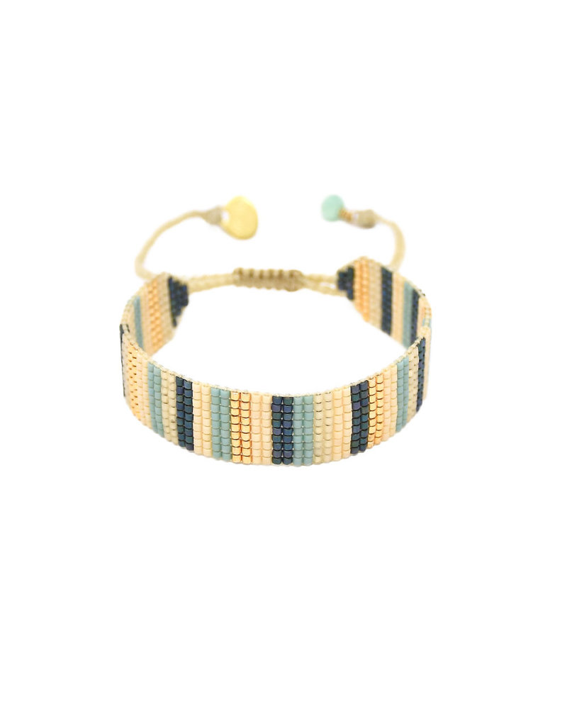 Mishky Lineal B-BE-S-9272 White Blue Turquoise Gold