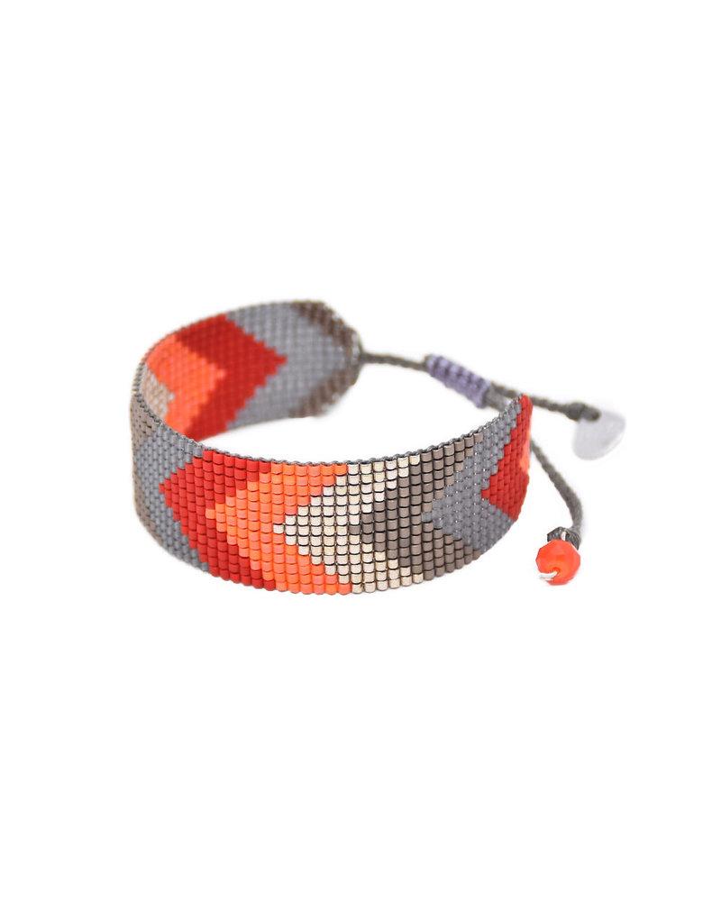 Mishky Forward-BE-S-9326 Red Orange Silver Gunmetal